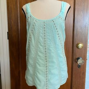 WHBM Aqua blouse tank top size L fully lined